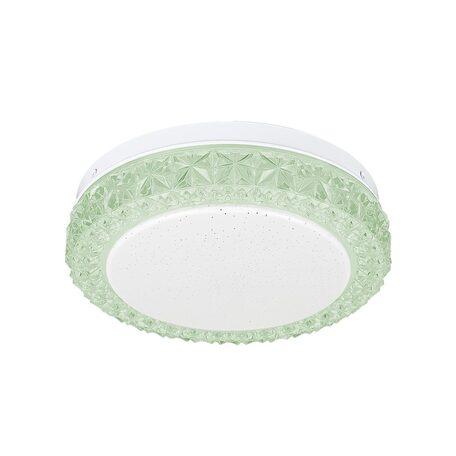 Потолочный светодиодный светильник Citilux Кристалино Слим CL715R123, LED 12W 3000K 900lm, белый, зеленый, металл, пластик - миниатюра 1