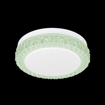 Потолочный светодиодный светильник Citilux Кристалино Слим CL715R123, LED 12W 3000K 900lm, белый, зеленый, металл, пластик - миниатюра 2