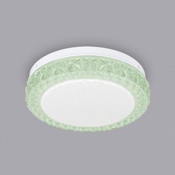 Потолочный светодиодный светильник Citilux Кристалино Слим CL715R123, LED 12W 3000K 900lm, белый, зеленый, металл, пластик - миниатюра 4