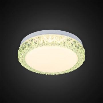 Потолочный светодиодный светильник Citilux Кристалино Слим CL715R123, LED 12W 3000K 900lm, белый, зеленый, металл, пластик - миниатюра 5