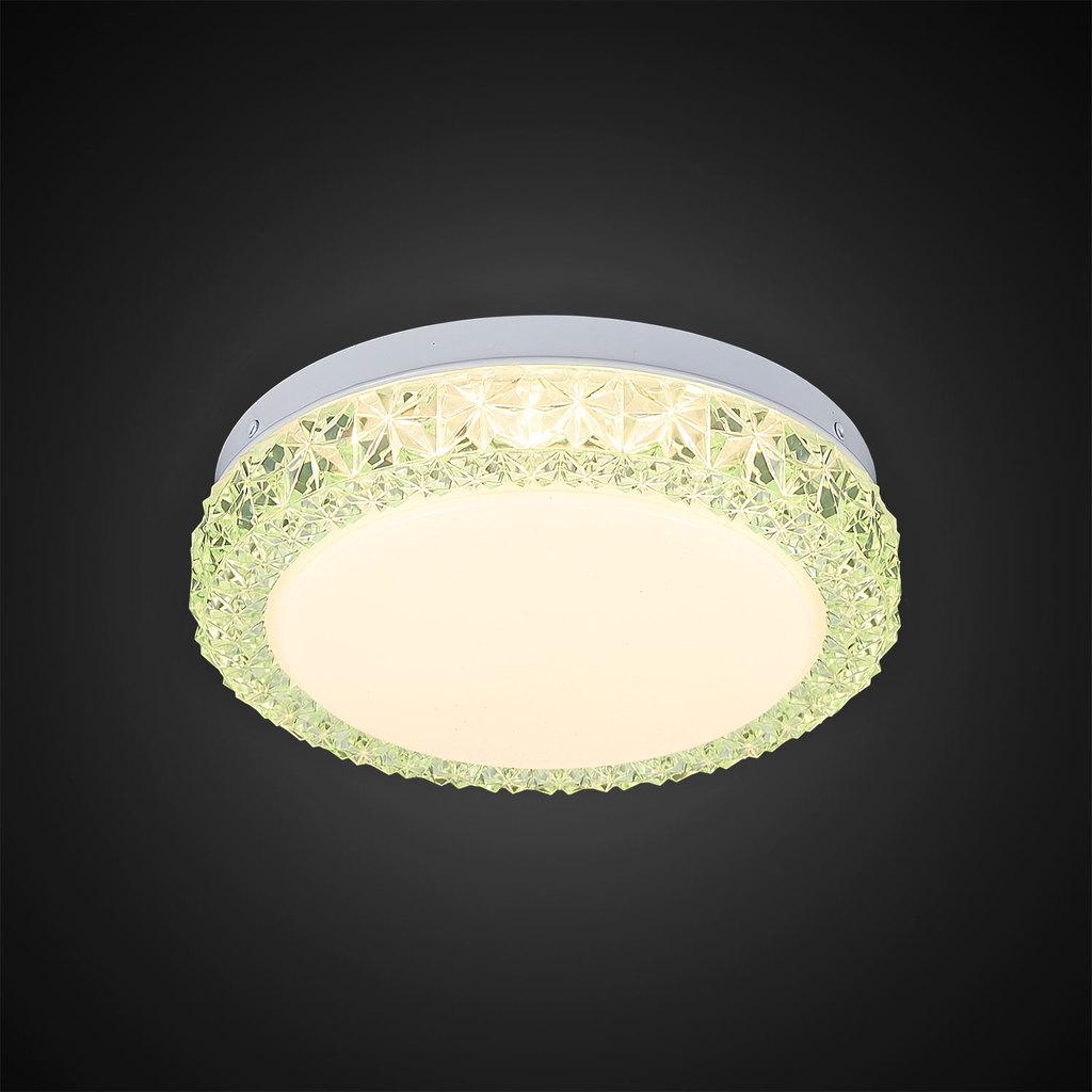 Потолочный светодиодный светильник Citilux Кристалино Слим CL715R123, LED 12W 3000K 900lm, белый, зеленый, металл, пластик - фото 5