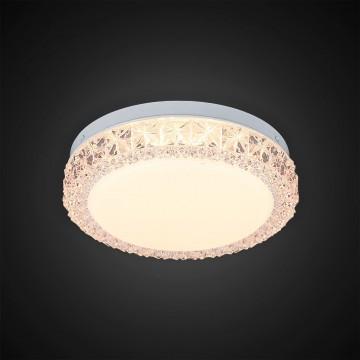 Потолочный светодиодный светильник Citilux Кристалино Слим CL715R124, LED 12W 3000K 900lm, белый, розовый, металл, пластик - миниатюра 4