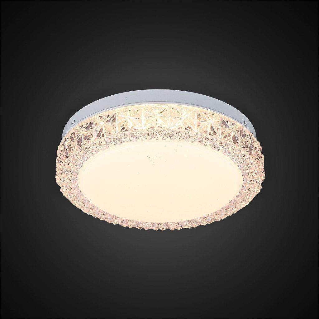 Потолочный светодиодный светильник Citilux Кристалино Слим CL715R124, LED 12W 3000K 900lm, белый, розовый, металл, пластик - фото 4