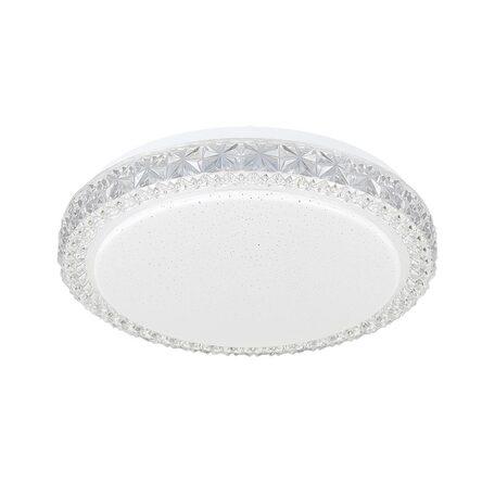 Потолочный светодиодный светильник Citilux Кристалино Слим CL715R180, LED 18W 3000K 1350lm, белый, металл, пластик