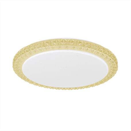 Потолочный светодиодный светильник Citilux Кристалино Слим CL715R362, LED 36W 3000K 2700lm, белый, желтый, металл, пластик