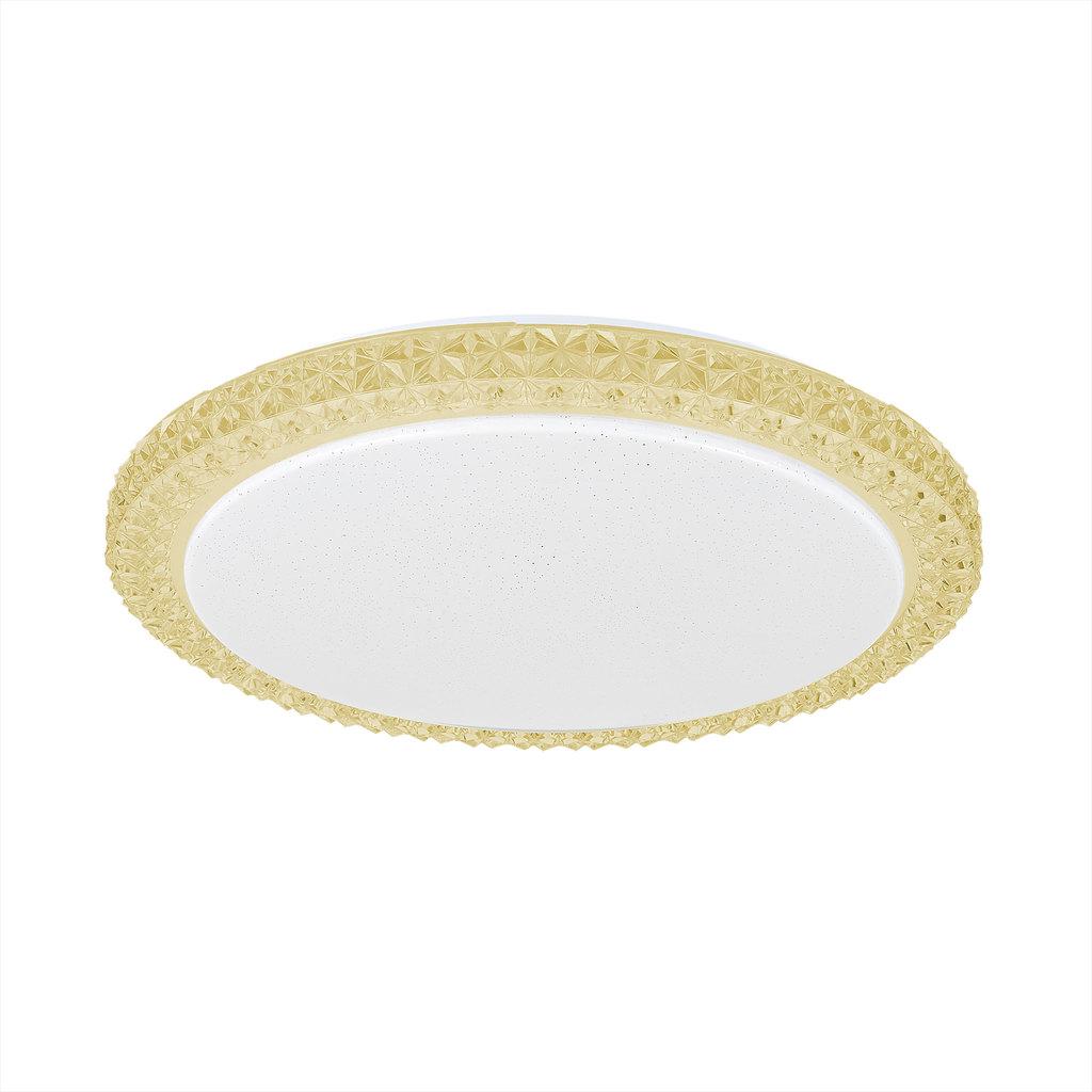 Потолочный светодиодный светильник Citilux Кристалино Слим CL715R362, LED 36W 3000K 2700lm, белый, желтый, металл, пластик - фото 1