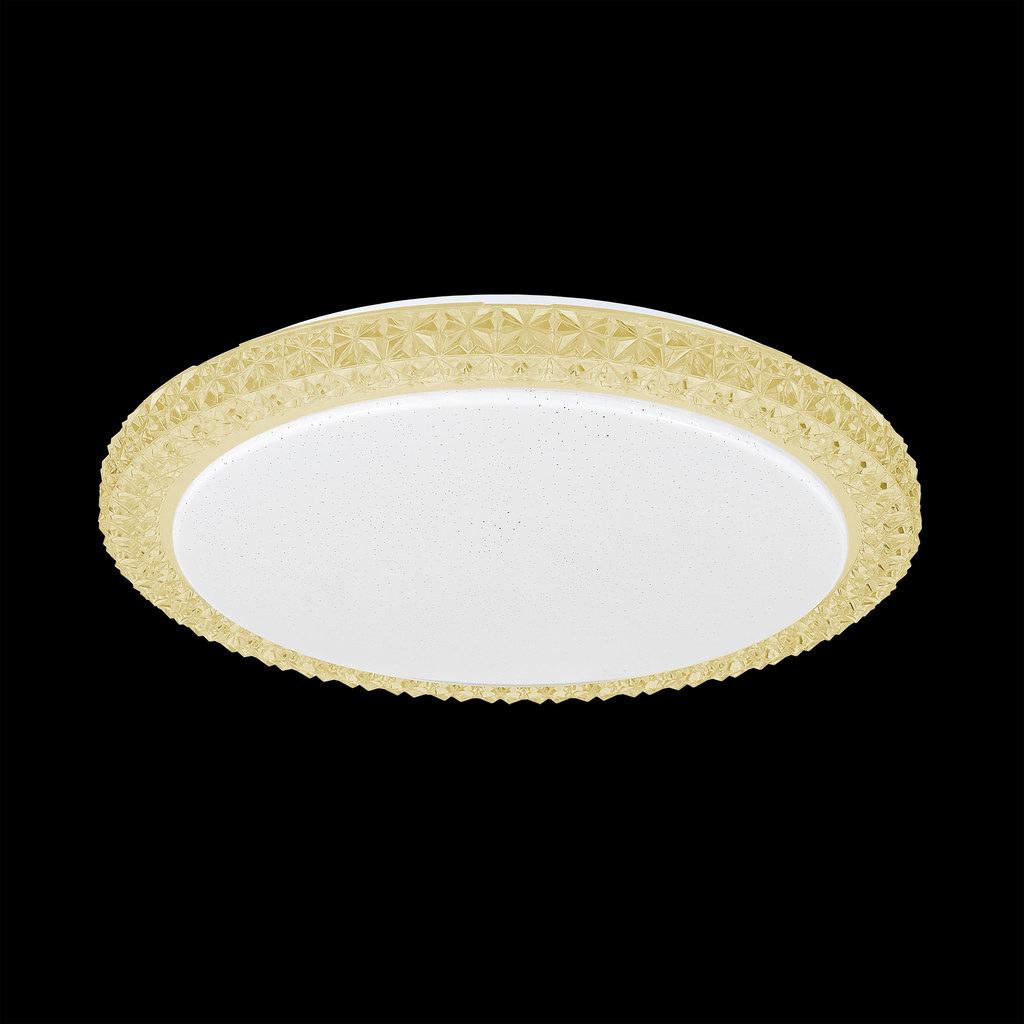 Потолочный светодиодный светильник Citilux Кристалино Слим CL715R362, LED 36W 3000K 2700lm, белый, желтый, металл, пластик - фото 2