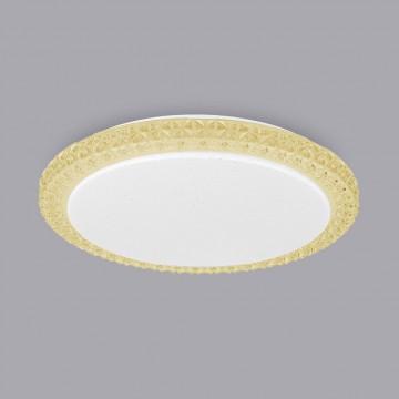 Потолочный светодиодный светильник Citilux Кристалино Слим CL715R362, LED 36W 3000K 2700lm, белый, желтый, металл, пластик - миниатюра 3