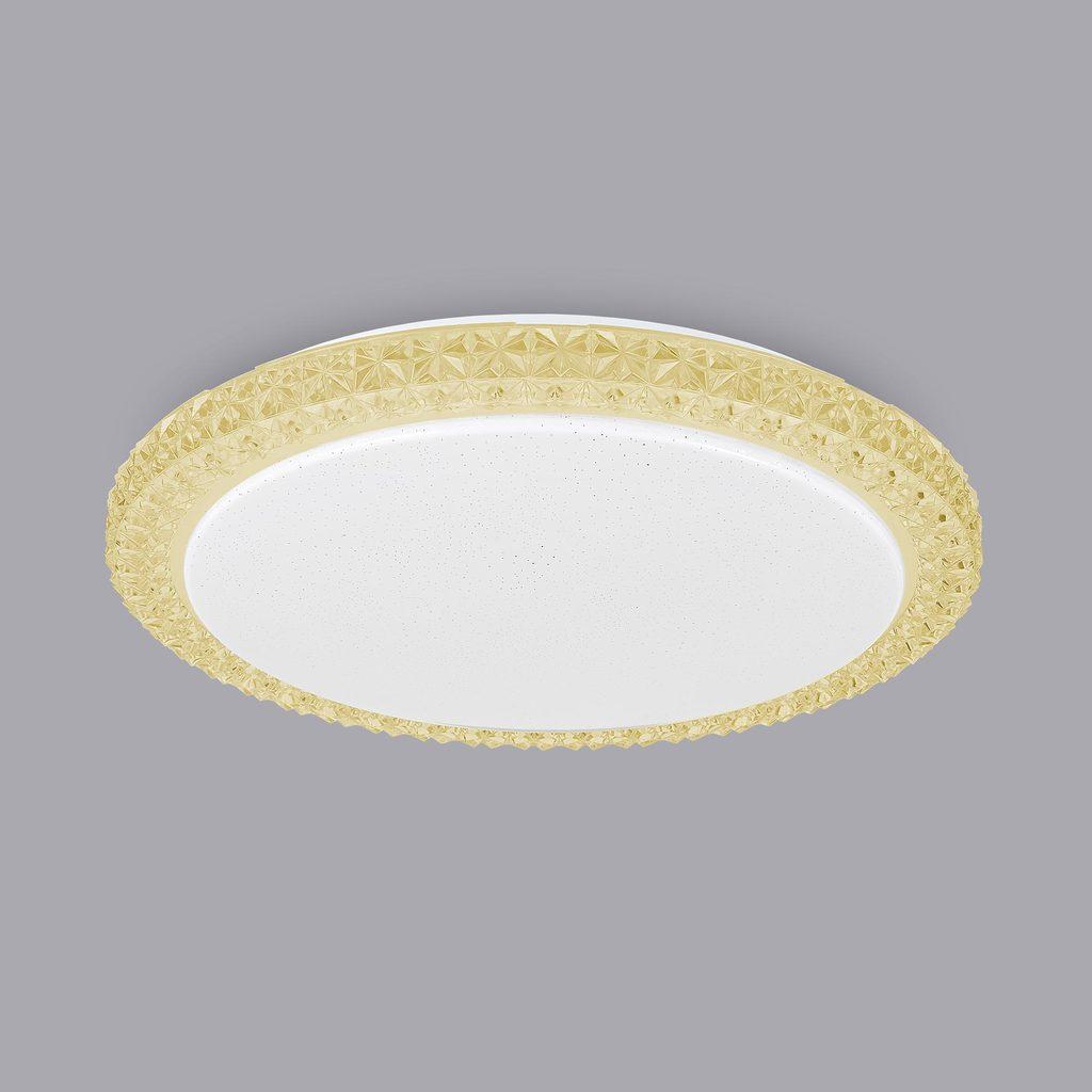Потолочный светодиодный светильник Citilux Кристалино Слим CL715R362, LED 36W 3000K 2700lm, белый, желтый, металл, пластик - фото 3
