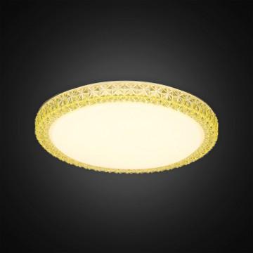 Потолочный светодиодный светильник Citilux Кристалино Слим CL715R362, LED 36W 3000K 2700lm, белый, желтый, металл, пластик - миниатюра 4