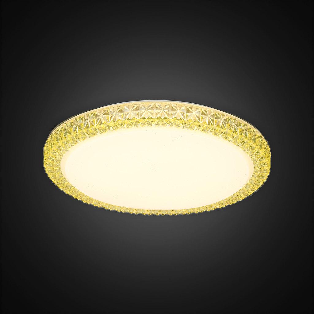 Потолочный светодиодный светильник Citilux Кристалино Слим CL715R362, LED 36W 3000K 2700lm, белый, желтый, металл, пластик - фото 4