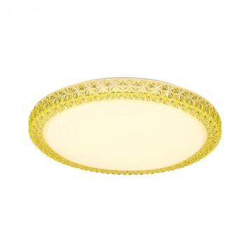 Потолочный светодиодный светильник Citilux Кристалино Слим CL715R362, LED 36W 3000K 2700lm, белый, желтый, металл, пластик - миниатюра 5