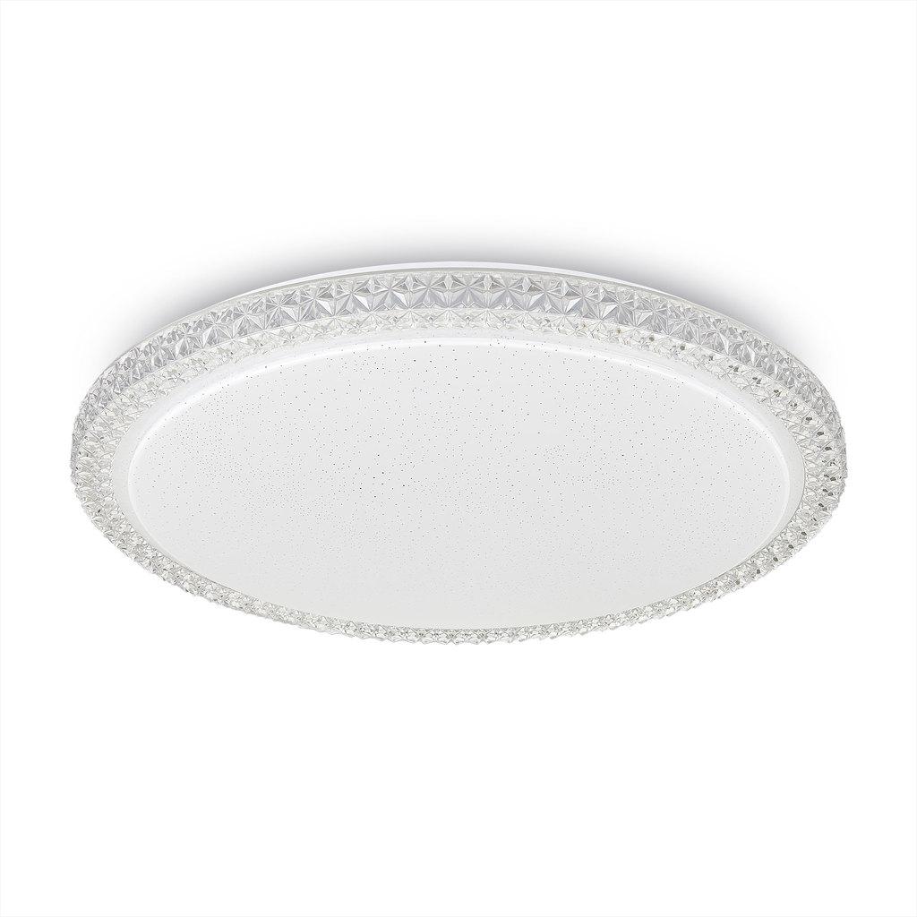Потолочный светодиодный светильник Citilux Кристалино Слим CL715R480, LED 48W 3000K 3600lm, белый, металл, пластик - фото 1