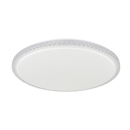 Потолочный светодиодный светильник Citilux Кристалино Слим CL715R720, LED 72W 3000K 5400lm, белый, прозрачный, металл, пластик