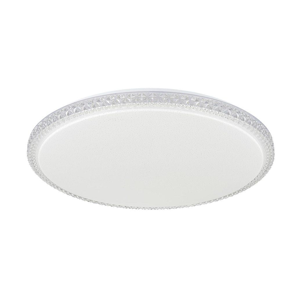 Потолочный светодиодный светильник Citilux Кристалино Слим CL715R720, LED 72W 3000K 5400lm, белый, металл, пластик - фото 1