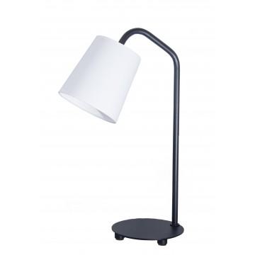 Настольная лампа Topdecor Flamingo T1 12 01, 1xE14x60W, черный, белый, металл, текстиль