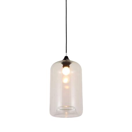 Подвесной светильник Lumina Deco Monti LDP 6813 PR, 1xE27x40W, черный, прозрачный, металл, стекло