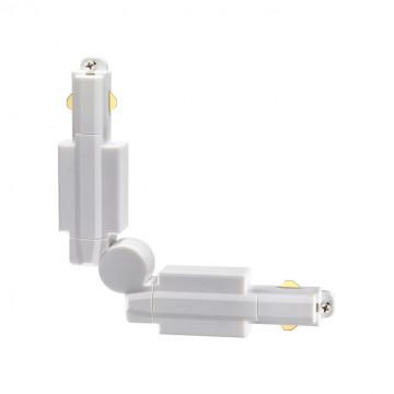 Поворотный соединитель для шинопровода Novotech Port 135020, белый, пластик