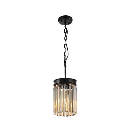 Светильник Citilux Мартин CL332012, 1xE27x75W, черный, янтарь, металл, хрусталь