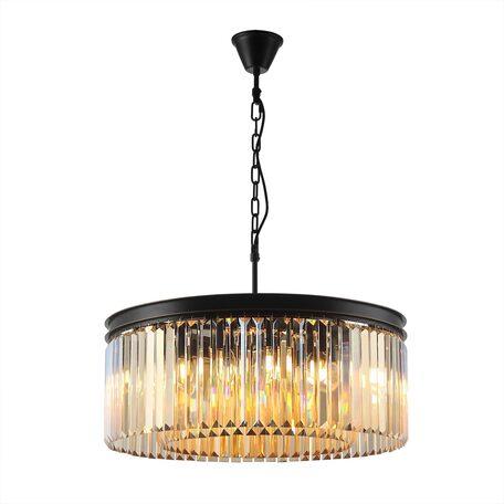 Светильник Citilux Мартин CL332122, 12xE14x60W, черный, янтарь, металл, хрусталь