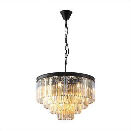 Светильник Citilux Мартин CL332142, 18xE14x60W, черный, янтарь, металл, хрусталь