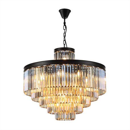 Светильник Citilux Мартин CL332152, 29xE14x60W, черный, янтарь, металл, хрусталь