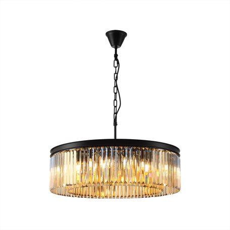 Светильник Citilux Мартин CL332162, 16xE14x60W, черный, янтарь, металл, хрусталь
