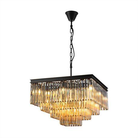 Светильник Citilux Мартин CL332242, 20xE14x60W, черный, янтарь, металл, хрусталь