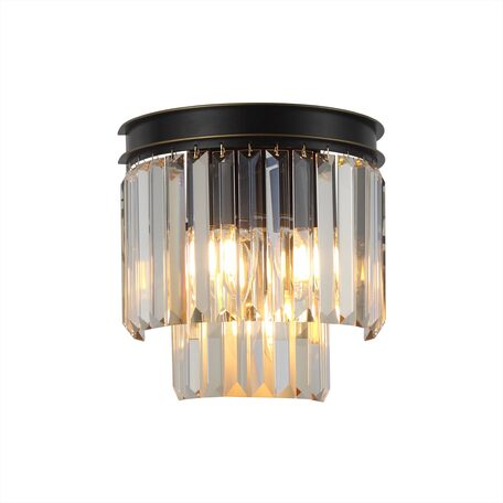 Светильник Citilux Мартин CL332332, 3xE14x60W, черный, янтарь, металл, хрусталь