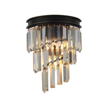 Светильник Citilux Мартин CL332432, 3xE14x60W, черный, янтарь, металл, хрусталь