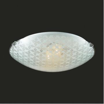 Потолочный светильник Sonex Sali 135/K, 2xE27x60W, хром, матовый, прозрачный, металл, стекло