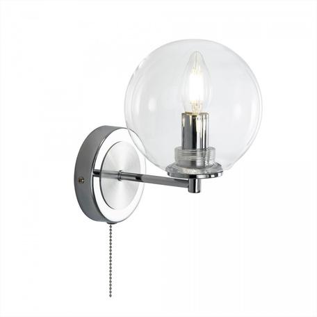 Светильник Citilux Галлен CL240311, 1xE14x40W, хром, прозрачный, металл, стекло