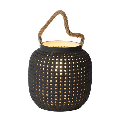 Настольная лампа Lucide Safiya 13525/01/36, 1xE14x25W, черный, керамика, канат