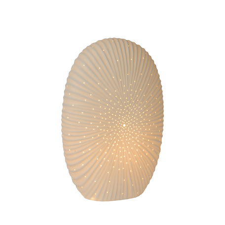 Настольная лампа Lucide Shelly 13527/33/31, 1xE14x25W, белый, керамика