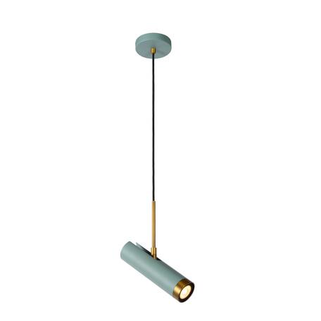 Подвесной светильник с регулировкой направления света Lucide Selin 03422/01/37, 1xGU10x35W, бирюзовый, металл