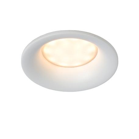 Встраиваемый светильник Lucide Ziva 09923/01/31, IP44, 1xGU10x5W, белый, металл