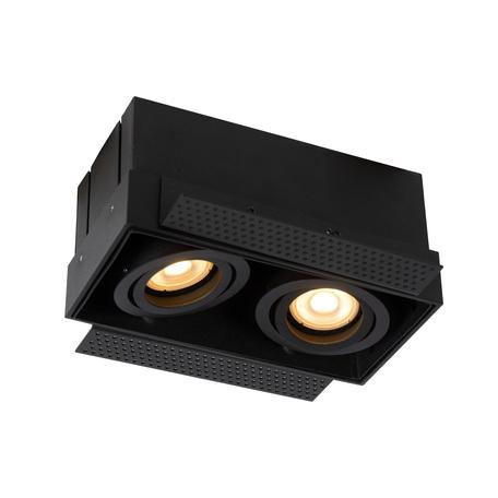 Встраиваемый светильник Lucide Trimless 09925/02/30, 2xGU10x50W, черный, металл