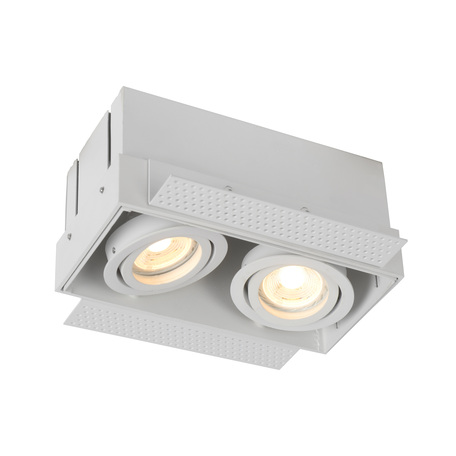 Встраиваемый светильник Lucide Trimless 09925/02/31, 2xGU10x50W, белый, металл
