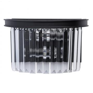 Бра MW-Light Гослар 498025302, 2xE14x60W, черный, прозрачный, металл, хрусталь
