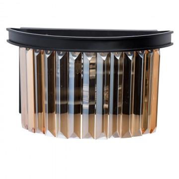 Бра MW-Light Гослар 498025402, 2xE14x60W, черный, коньячный, металл, хрусталь