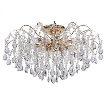 Потолочная люстра MW-Light Бриз 464018709, 9xE14x60W, золото, прозрачный, металл, хрусталь