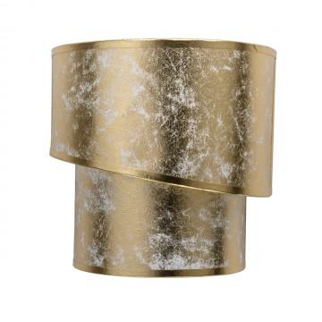 Настенный светильник MW-Light Нора 454021202, 2xE14x40W, никель, матовое золото, металл, текстиль