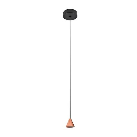 Основание подвесного светодиодный светильника Azzardo Tentor AZ3085, LED 7W 3000K 325lm, черный, медь, металл