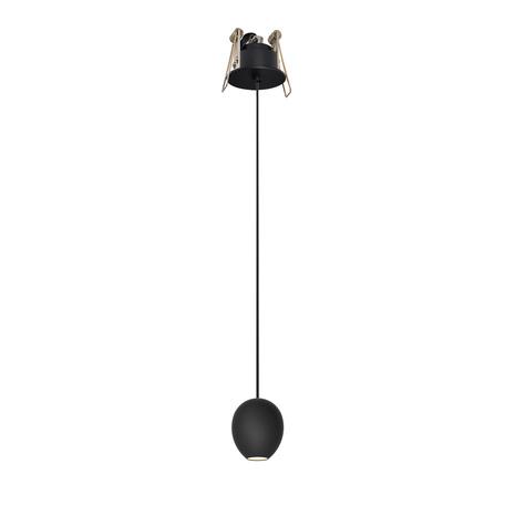 Встраиваемый подвесной светодиодный светильник Azzardo Ovum AZ3096, LED 4,5W 3000K 220lm, черный, металл