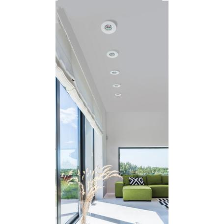Встраиваемый светильник Azzardo Ika AZ2865, IP65, 1xGU10x50W, белый, металл