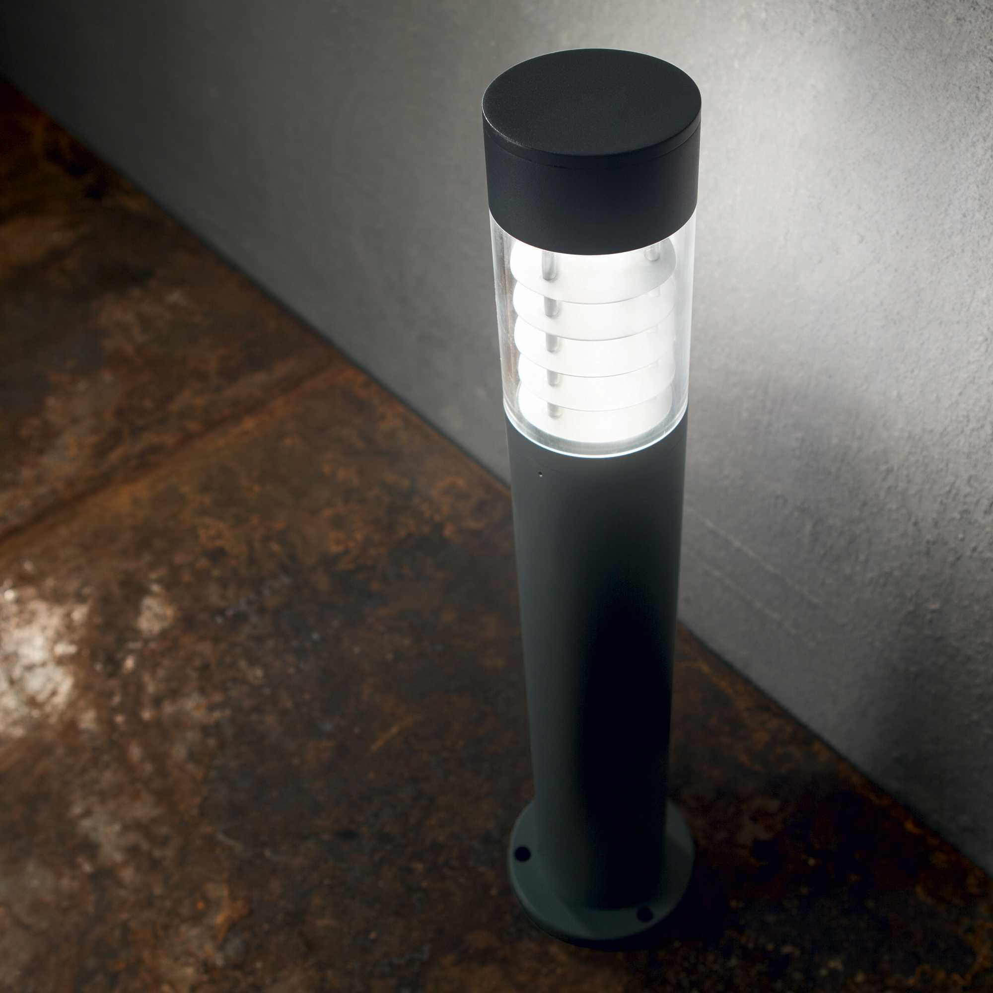 Светильник Ideal Lux Dema PT 248240, IP54, R7Sx60W, черный, прозрачный, металл, стекло - фото 2