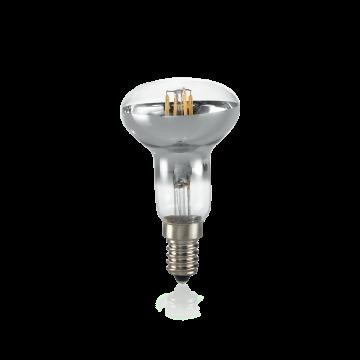Филаментная светодиодная лампа Ideal Lux LAMPADINA CLASSIC E14 4W SPOT CROMO 3000K 101255 грибок E14 4W (теплый) 240V