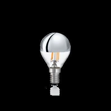 Филаментная светодиодная лампа Ideal Lux LAMPADINA CLASSIC E14 4W SFERA CROMO 3000K 101262 шар E14 4W (теплый) 240V