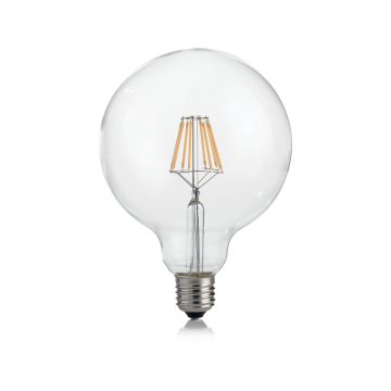 Филаментная светодиодная лампа Ideal Lux LAMPADINA CLASSIC E27 8W GLOBO D125 TRASP 3000K 101347 G125 E27 8W 3000K (теплый) 240V, недиммируемая/недиммируемая