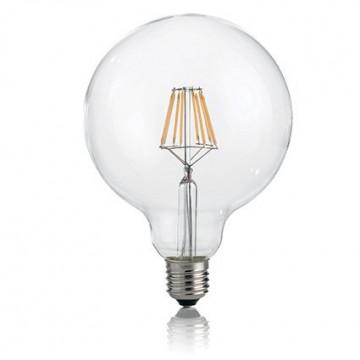 Филаментная светодиодная лампа Ideal Lux LED Classic LAMPADINA CLASSIC E27 8W GLOBO D125 TRASPARENTE 3000K 101347 G125 E27 8W 806lm 3000K (теплый) 240V, недиммируемая